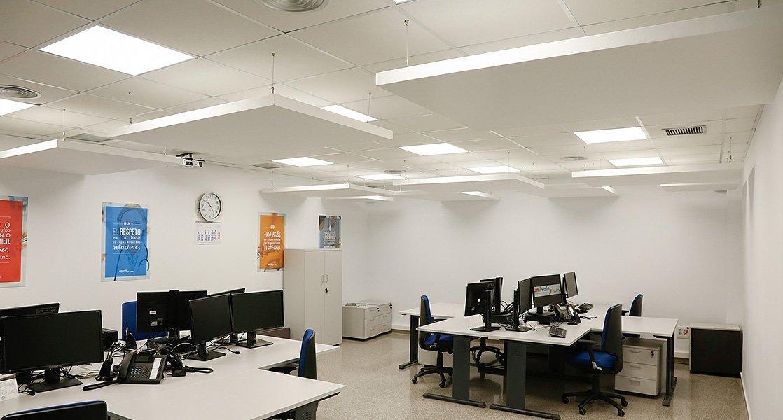umivale oficina paneles fonoabsorbentes