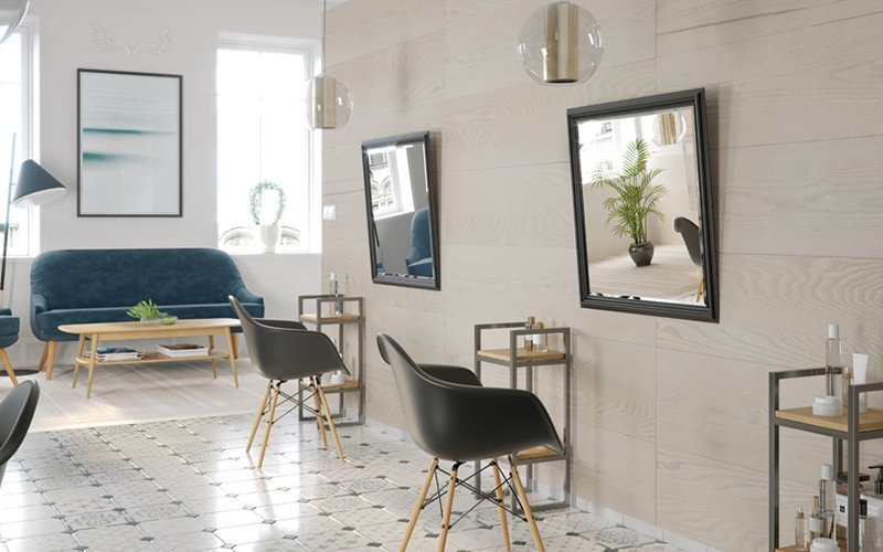 paneles decorativos kerradeco en estableciminetos comerciales