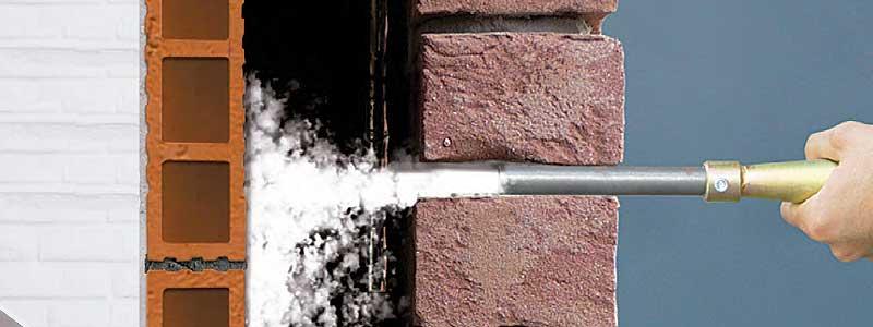 Instalación de Supafil mediante induflado mecánico en techos y fachada