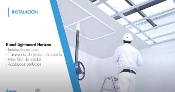 Placa para techos de yeso laminado Knauf Horizon