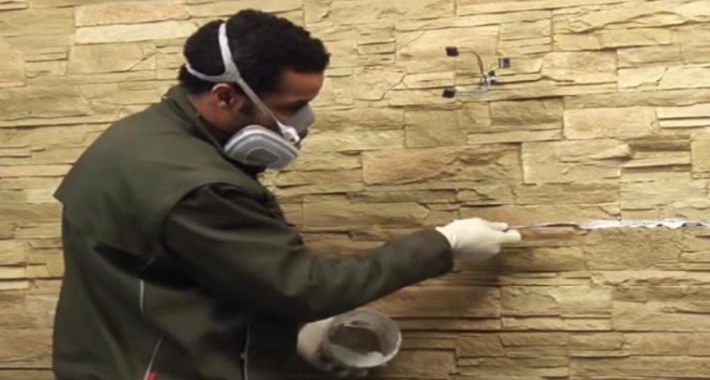 Instalación paredes panes decorativos imitación piedras