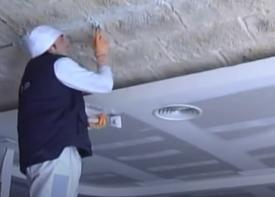 instalación de bóveda con paneles decorativos
