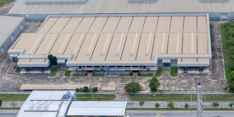 cubierta plana polígono industrial Aquapanel