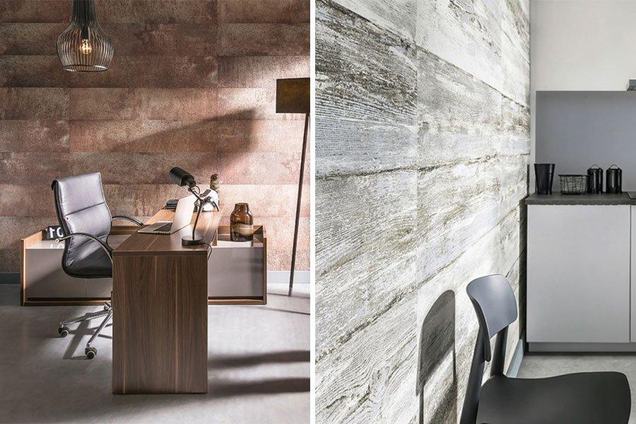 paredes PVC piedra y madera