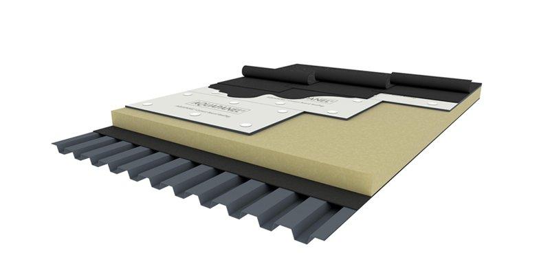 cubierta plana placa protección superior Aquapanel