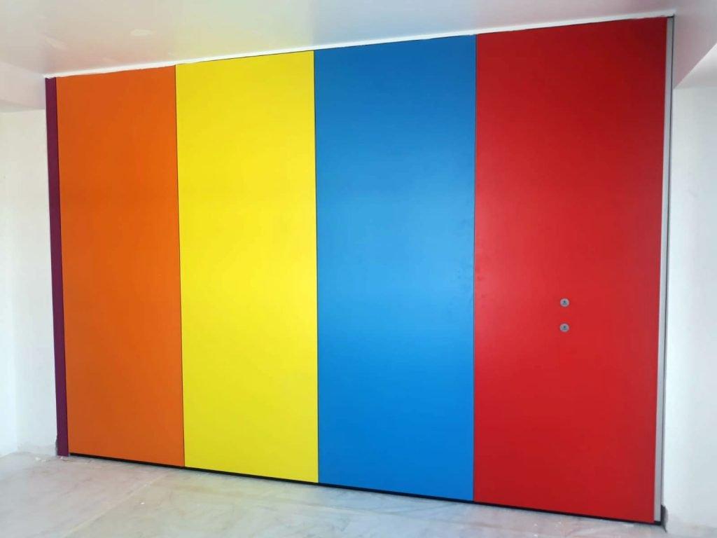 instalación tabique móvil colores vivienda
