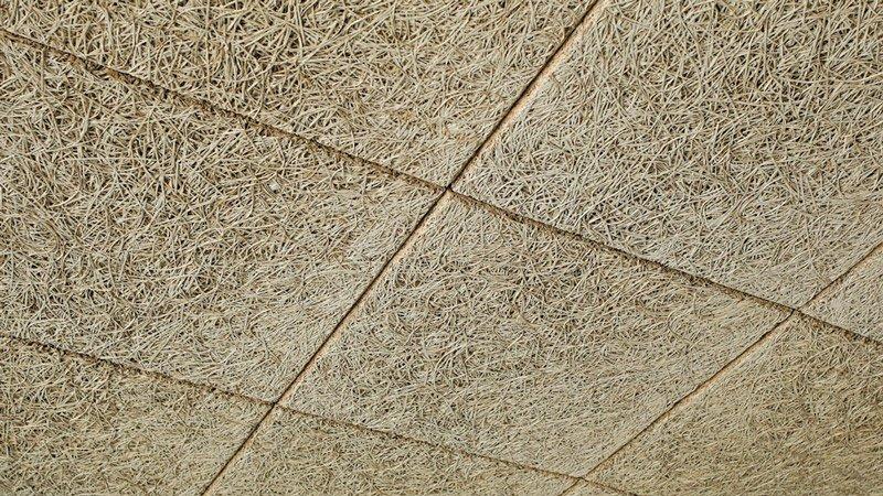 techo desmontable de viruta de madera